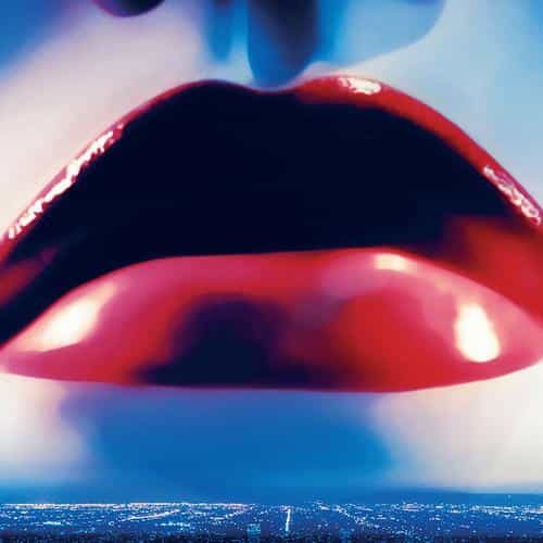 lips poster film neon demon red blue art illustration