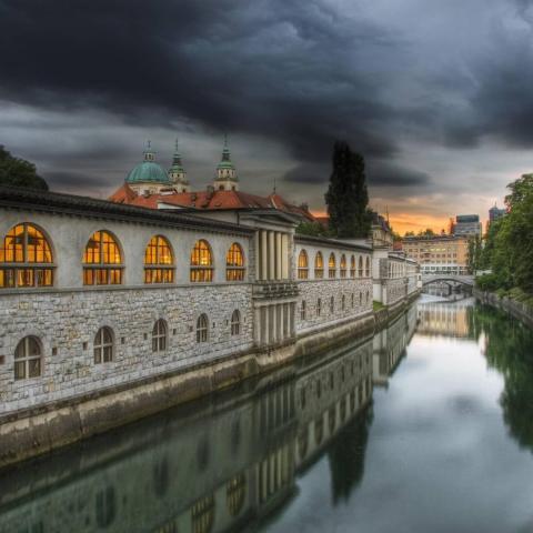 Ljubljana, Slovenien bakgrundsbilder