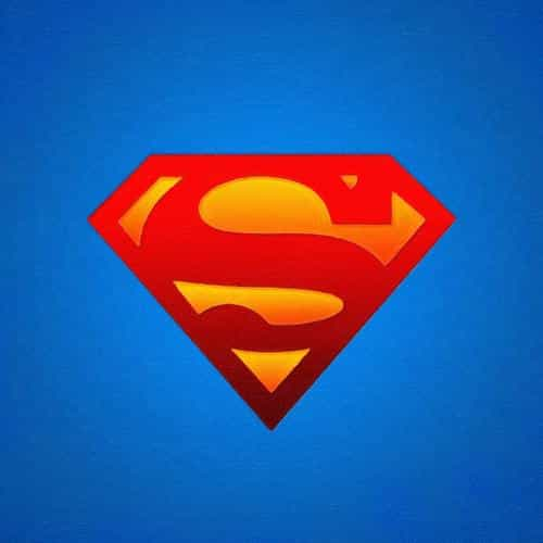 logo superman blue red hero illustration art