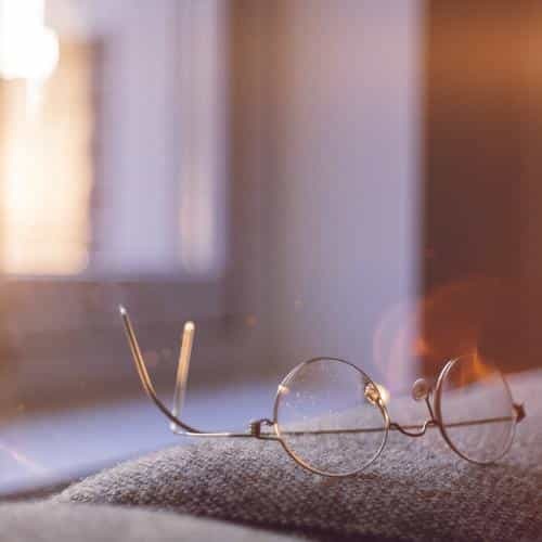 lonely quiet day home glasses sunlight flare