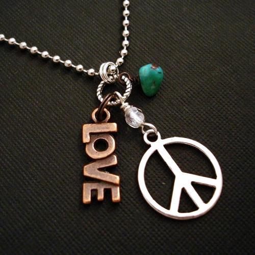Love and peace necklace wallpaper