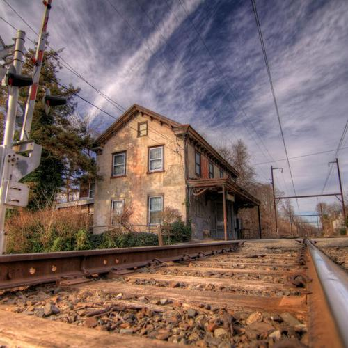 Lovely old train station in Hdr wallpaper