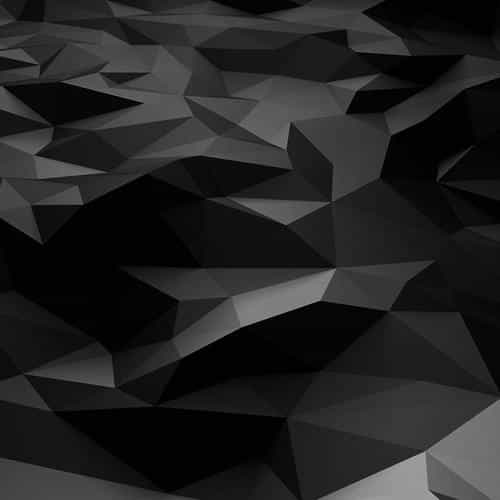 low poly art dark bw pattern