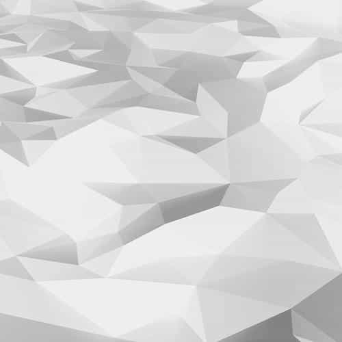 low poly art white pattern