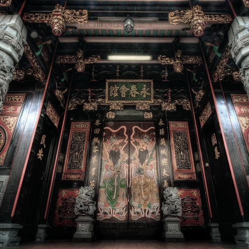 Magnificent entry to an Oriental Temple