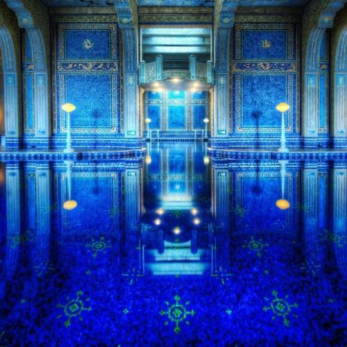 Magnificent Hearst Castle Pool wallpaper