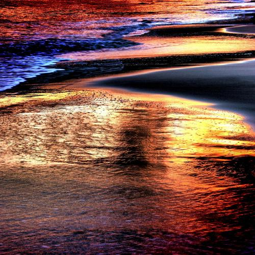Magnificent sparkle colorful beach wallpaper