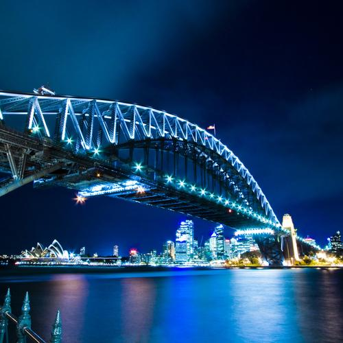 Magnificent Sydney Harbor bridge