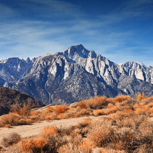 Majesty Mount Whitney in landscape wallpaper