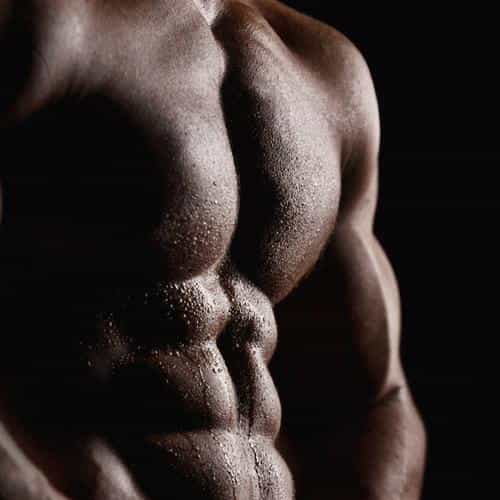 man body muscle dark
