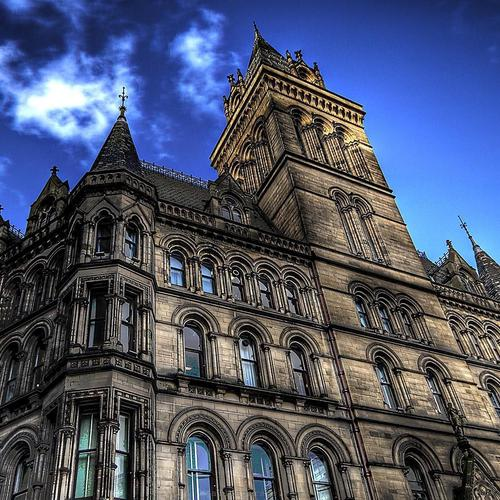 Manchester City Hall HDR tapeta