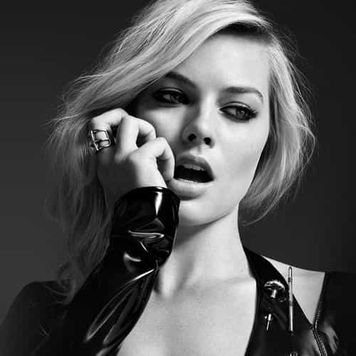 margot robbie bw photo celebrity girl