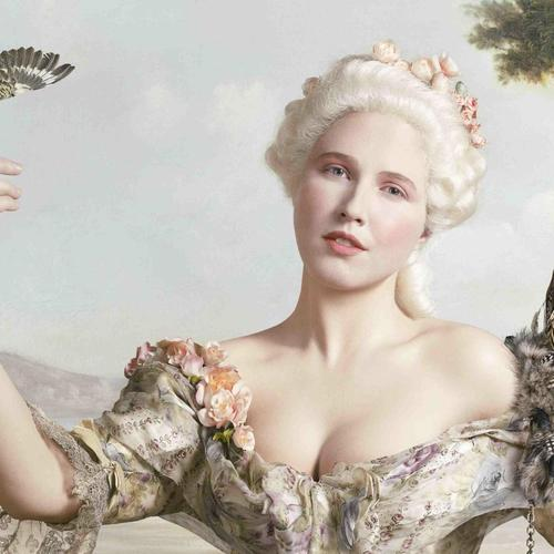 Marie Antoinette painting wallpaper