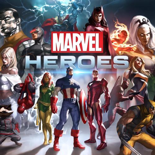 Marvel Heroes Game behang