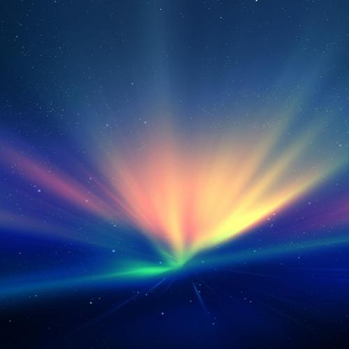 Marvelous colorful lights on universe wallpaper