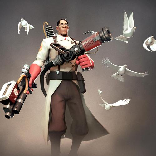 Medic in Team Fortress 2 game wallpaper