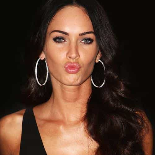 megan fox dark cute kiss celebrity