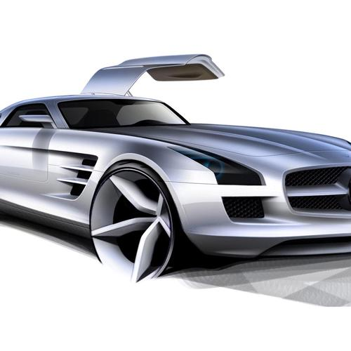 Mercedes sls concept wallpaper