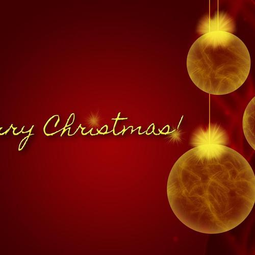 Merry Christmas Golden Ornaments