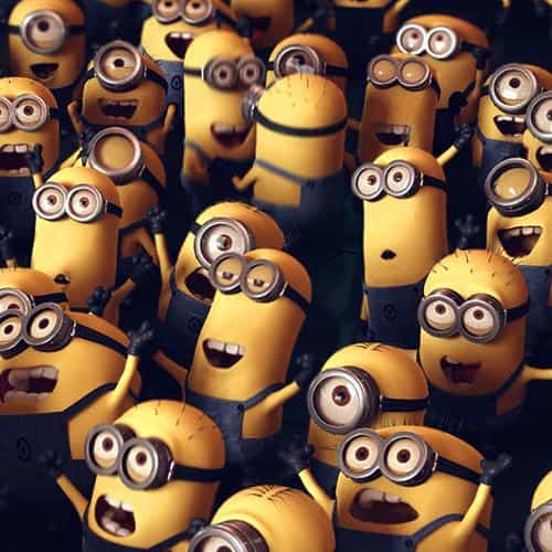 minions despicable me cute yellow art illustration