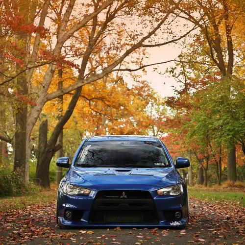 Mitsubishi Lancer Evo X Tuning Auto Road behang
