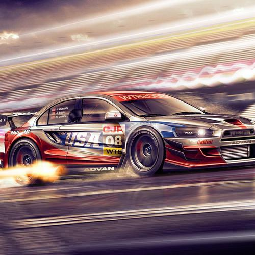 Mitsubishi Lancer Gt Master racing wallpaper