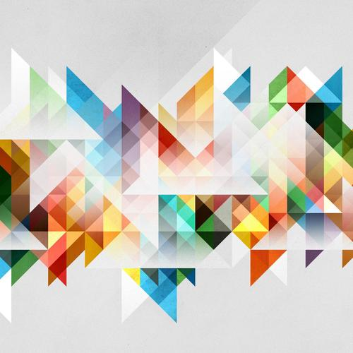 Mixed Triangles wallpaper