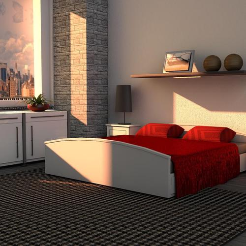 Modern bedroom design wallpaper