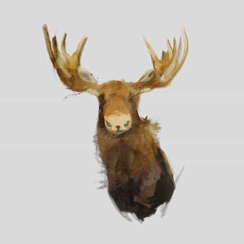 moose illust minimal art by garillu