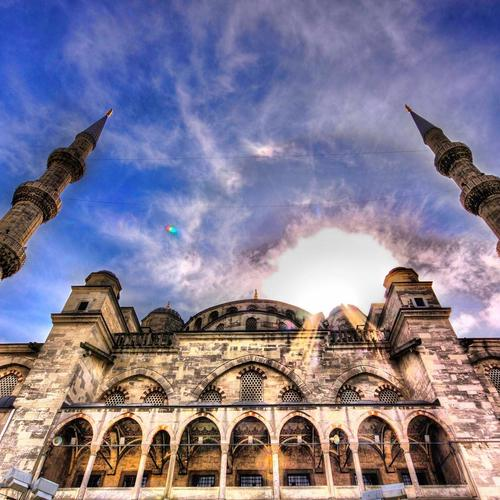 Mosque Sky Hdr wallpaper