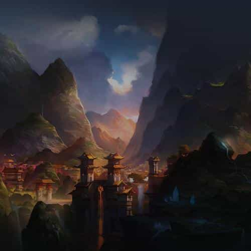 mountain art illust china anime peaceful