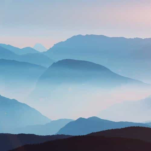 mountain layers sky blue fantastic beautiful morning flare