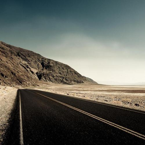 Mountains Empty Road HD wallpaper