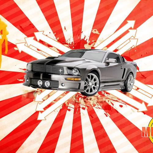 Mustang Vector Style