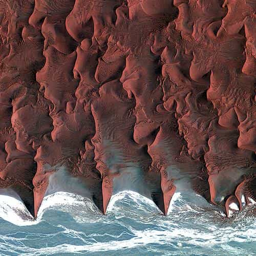 namib desert red earthview pattern