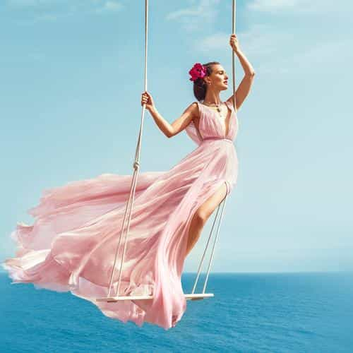natalie portman summer dress sea swing