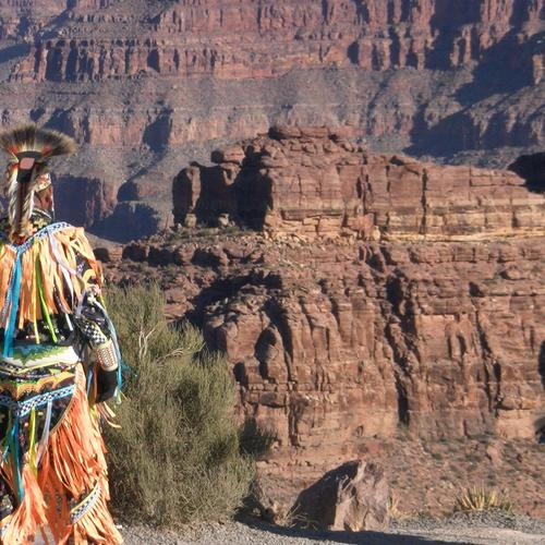 Native American Indians at Grand Canyon wallpaper