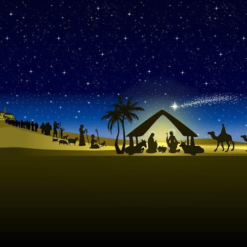 Nativity vector wallpaper