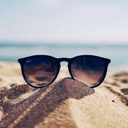 nature glass sun rayban bokeh vacation sea summer