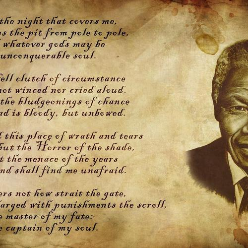 Nelson Mandela poem wallpaper