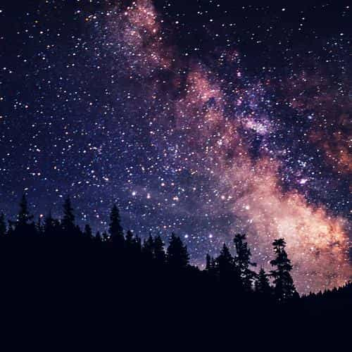 night sky dark space milkyway star nature