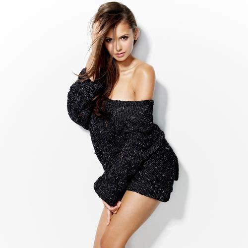 Nina Dobrev Hot in black dress