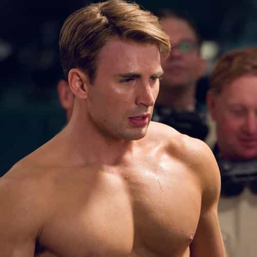 nude captain america muscle king hero art