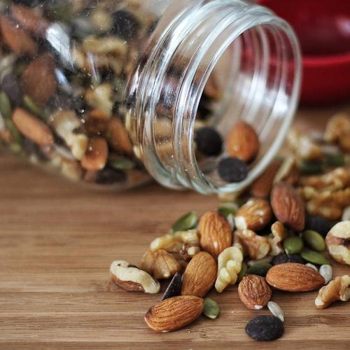 Nuts peanuts jar food wallpaper