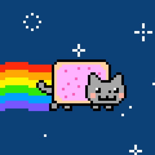 Nyan cat behang