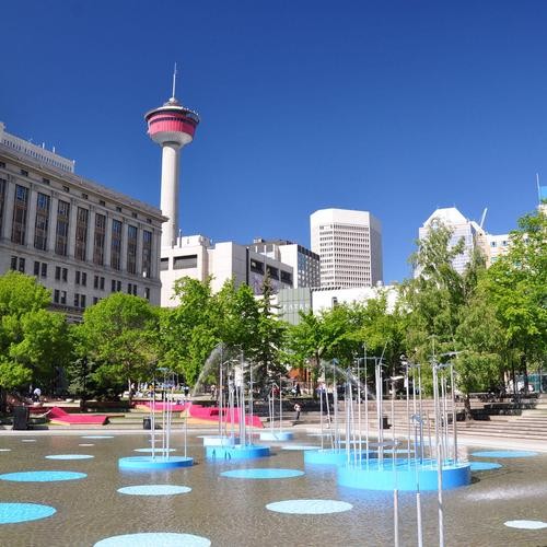 Olympisch park in Calgary behang
