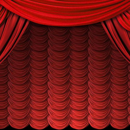 Opening red curtain wallpaper