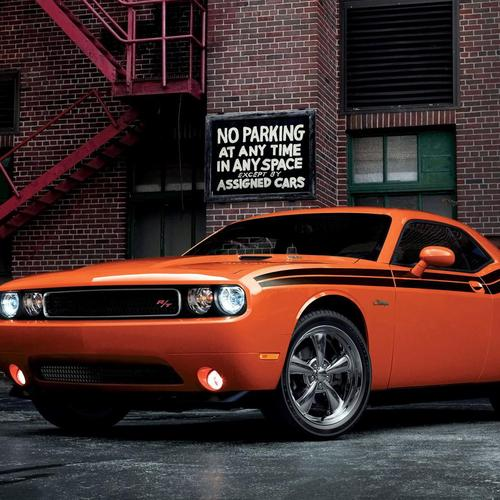 Orange 2014 Dodge Challenger RT Classic