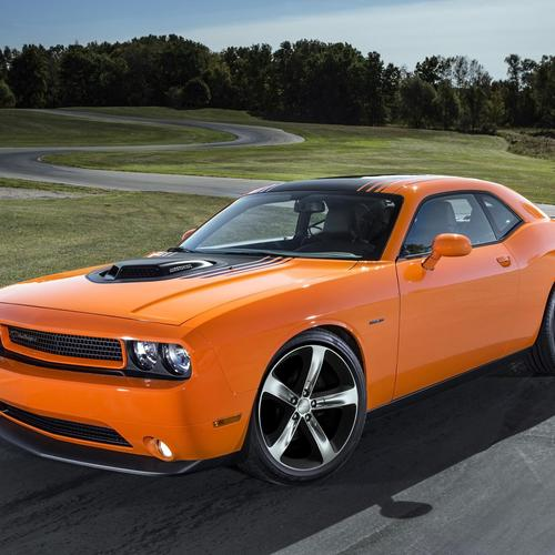 Orange 2014 Dodge Challenger RT Shaker тапети