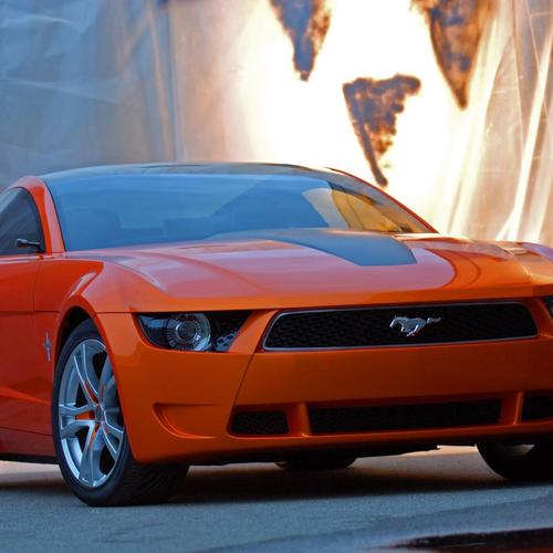 Orange Ford Mustang Giugiaro hintergrund